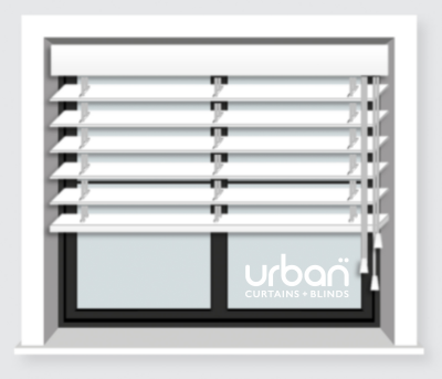 Visual representation of Venetian blinds
